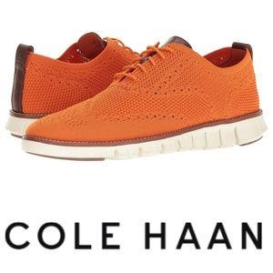 Cole Haan Zerogrand Stitchlite 10.5 Orange Oxfords